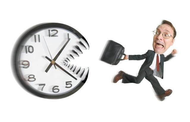 時間に追われる
